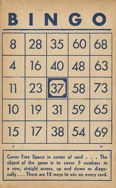 Vintage Bingo CardImages - Percy & Bloom - Percy & Bloom