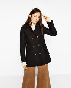 SHORT DOUBLE BREASTED COAT-View all-OUTERWEAR-WOMAN | ZARA United States