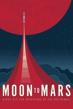 Mars Nasa Travel VINTAGE Space Art Silk poster 12x18 24x36