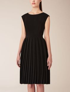 Max Mara PIRANO black Cady dress. (It's difficult to see in the photo but the skirt is pleated, similar to the Mulberry skirt Kate has worn.)