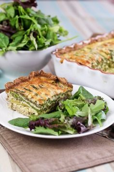 Asparagus and Cheese Quiche - Crust In, Grains Out! - The Healthy Foodie