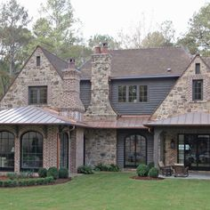 English Retreat - Bonner Buchanan Stone Exterior Houses, Exterior House Colors, Stone Houses, Exterior Design, Stone Home Exteriors, English Cottage Exterior, Modern Farmhouse Exterior, Casas Country, Residential Architecture