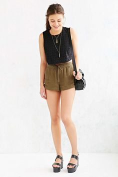 COPE Drawstring Easy Short - Urban Outfitters