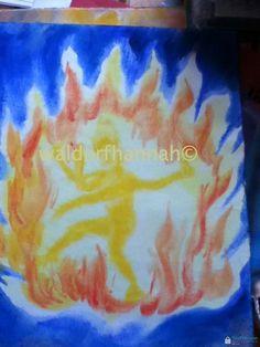 Waldorf ~ 5th grade ~ Ancient India ~ Shiva's Dance ~ watercolor painting
