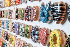 South Korean Ceramicist Jae Yong Kim Sculpts Donuts Out Of Clay, Inspired By Modern Art   #art #ceramic #donut #food #foodart #jaeyongkim #junkfood #opticalillusion #porcelain #sculpture #southkorea