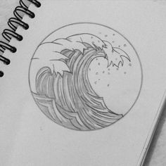 Wave after Wave… Tattoo Sketch, Wave Drawing, Draw Logo, Manga Cute, Grafiti, Aesthetic Drawing, Making Waves, Am Meer, Great Tattoos