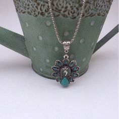 Magnificent Peacock Turquoise Necklace Brand new S Rosebud Fashions Jewelry Necklaces