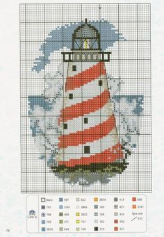 Lighthouse Cross-Stitch. Part 2/2