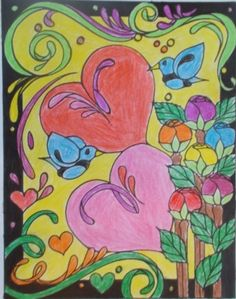 Golda G age 11 (Under 12 division) from Heart to Heart Stained Glass Coloring Book: http://store.doverpublications.com