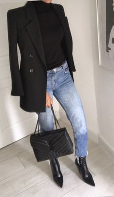 Blazer Outfits, Chic Outfits, Fall Outfits, Fashion Outfits, Womens Fashion, Look Fashion, Autumn Fashion, Look Jean, Look Formal