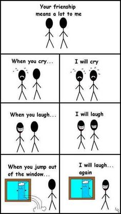 This is super evil yet super hilarious comic strip about friendship. Its sooo not nice but it is quite funny