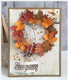 Best DIY Ideas of Handmade Thanksgiving Cards Picture 58