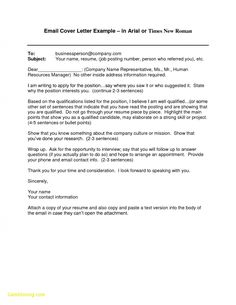 27 email cover letter format