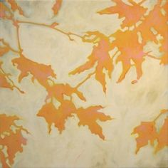 In Sunshine and Shadow: Jill Sykes - artsy forager #art #paintings #leaves