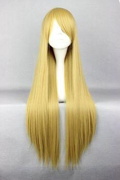a68ec39443e Hokage Tsunade Hairstyle Long Straight Flaxen Cosplay Wig 30 Inches