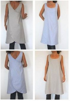 Sewing Pattern - This is a pattern for a cross-back full apron but they are calling it a 'backless reversible tunic for woman'. I Love Japanese fashion? Learn to sew Japanese sewing patterns at http://www.japanesesewingpatterns.com/.