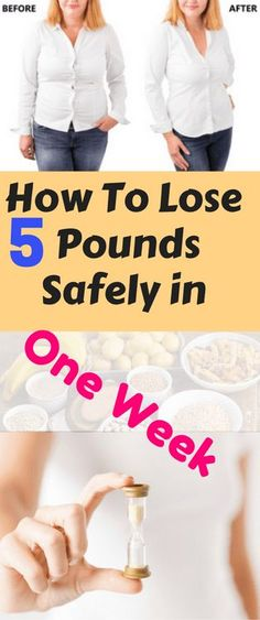 There will be 3 main steps to help you lose up to 5 pounds safely, in just one week.