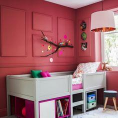 Une supension rose et cuivrée pour la chambre d'enfant, Fly