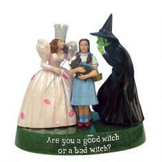 One of my favorite discoveries at WBShop.com: The Wizard of Oz Good Witch or Bad Witch Figurine