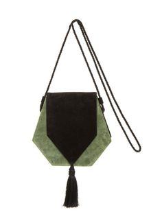 Bolsa Camurça Barnual Green/Black Fe Yamin