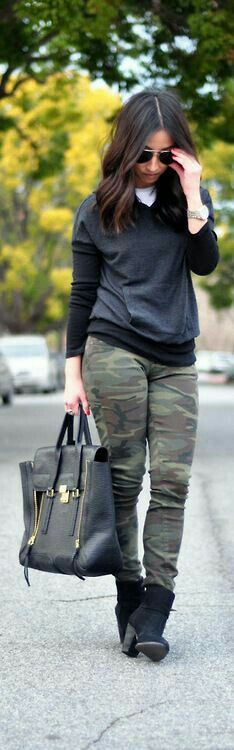 Casual camo outfit