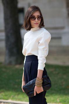 Pleats aren't all bad. Paris Fashion Week 2014 Street Style