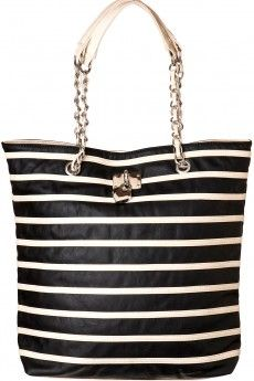 Striped Heart Lock Tote  COLETTE ONLINE $44.95