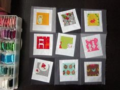 Polaroid quilt by StitchedInColor, via Flickr, this would be cute with photo transfers as the pics instead of printed fabric.