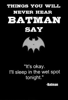 1000+ images about things you will never hear batman say ...