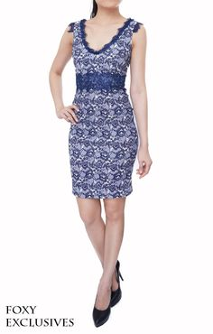Valentine Lace Dress in Navy, S$ 32.00
