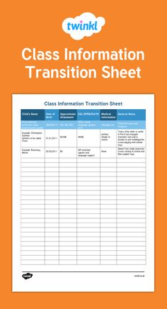 A simple way for teachers to organize information about their new class.