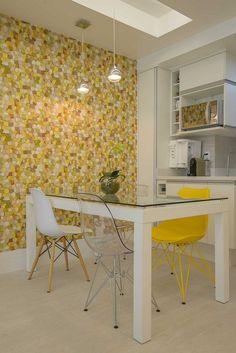 Cozinha-  amarelo e branco