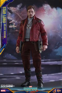 Hot Toys Star-Lord (Deluxe Version) Sixth Scale Figure is available at Sideshow.com for fans of Marvel, Guardians of the Galaxy vol 2 and Chris Pratt.