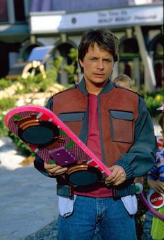 """Marty McFly """"Back to the Future"""" - Michael J. Fox , one of my favorite actors The Future Movie, Future Love, Back To The Future, Marty Mcfly Jacket, Michael J. Fox, Michael J Fox Young, Love Movie, Movie Tv, 80s Movies"""