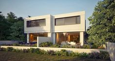 Rishon Le Zion Houses - rendering images of a double family house - Architect: Daniel Arev Architect House, 3d Rendering, Interior Architecture, Mansions, House Styles, Outdoor Decor, Home, Architecture Interior Design, Manor Houses