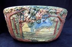 "1920s Weller Pottery ""Forest"" Planter Bowl"