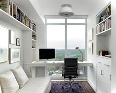 Once a rarity, the home office is a landmark of our evolving culture. Many of us today work at home, at least part of the time. Putting some time and effort into your home office design can boost your creativity… Continue Reading → Small Home Office Furniture, Home Office Space, Home Office Design, Home Office Decor, Modern House Design, Office Designs, Small Office, Corner Office, Office With Bed