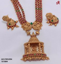 Elegant Fashion Wear Explore the trendy fashion wear by different stores from India Gold Jewelry For Sale, 1 Gram Gold Jewellery, Ruby Jewelry, Gold Jewellery Design, Temple Jewellery, Dainty Jewelry, Fine Jewelry, Handmade Jewelry