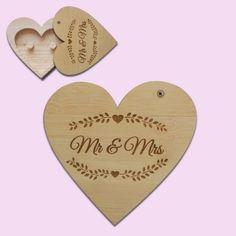 Mr & Mrs Heart Ring Holder