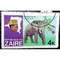 Zaire, Wild Life, Elephant, 4 K, 1979 used VF