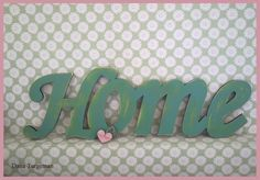 Wooden Home sign *Vintage style* by Dana Turgeman