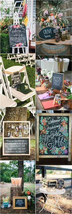 rustic wedding ideas- chalkboard wedding decor ideas / http://www.deerpearlflowers.com/chalkboard-wedding-ideas/