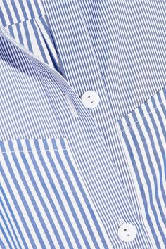 Tibi - Striped Cotton-poplin Dress - Blue - US12