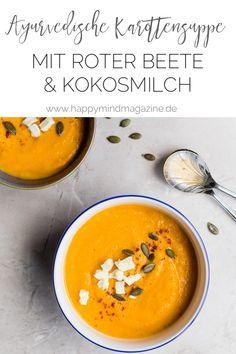 Mit meiner ayurvedischen Karottensuppe hast du immeretwas Warmes & Nährendes im Bauch. Vor allem Abends sind Suppen aus ayurvedischer Sicht einfach top. #Rezept #gesundessen #ayurveda