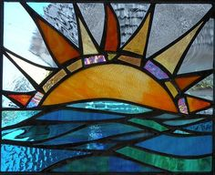 This original, made to order stained glass panel is a limited edition piece. The window measures x Ember is a limited edition collection of sun inspired stained glass panels by glass artist Mary Tantillo representing each day of Winter. Faux Stained Glass, Stained Glass Designs, Stained Glass Panels, Stained Glass Projects, Stained Glass Patterns, Leaded Glass, Mosaic Patterns, Mosaic Art, Mosaic Glass