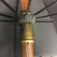 Brigg silk umbrella with carved dog head attributed to Czilinsky family c. early 1900s