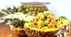 Vegan Pineapple Fried Rice by The Veg Life! Pineapple Curry, Pineapple Fried Rice, Side Recipes, Whole Food Recipes, Curry Fried Rice, How To Become Vegan, Plant Based Whole Foods, Vegan Side Dishes, Asian