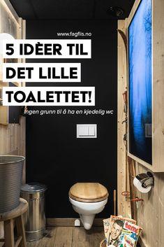 Litt kjedelig i husets minste rom? Vi gir deg 5 gode idèer som løfter toalettrommet til nye høyder! Les mer via linken. #fagflis #tiles #wc #design #interior Canning, Home Canning, Conservation