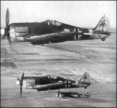 Focke Wulf Fw 190 F-8s of II./SG 77 in flight - Russia 1943