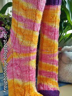 Augenblick mal ....: Prinzessinen Socken für Frau Tina